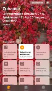 Homematic per Homebridge auf einem IPhone